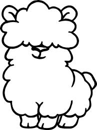 cute llama coloring pages contegri com