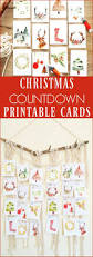christmas countdown printable watercolor cards watercolor and