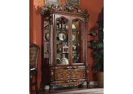 rooms to go curio cabinets beds to go dresden cherry oak curio cabinet