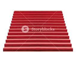 Exercise Floor Mats Over Carpet by Red Carpet On Stairway Steps Isolated Over Transparent Background