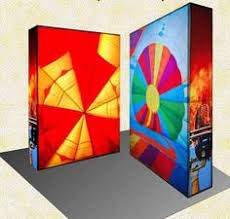 10 x 20 backlit modular trade show display featuring 2 led