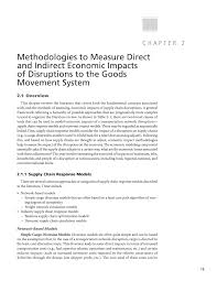 chapter 2 methodologies to measure direct and indirect economic