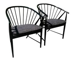 swedish ebonized beech wood spindles chairs pair omero home