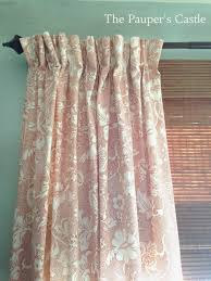 pauper u0027s castle pinch pleat table cloth curtains for under 20