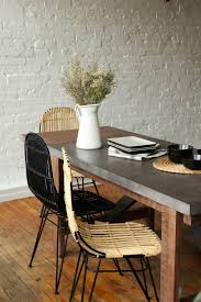 furniture maison small concrete dining table with extension