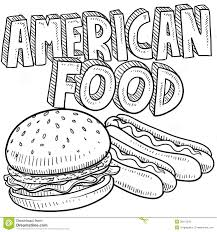 america food sketch royalty free stock photo image 28116245