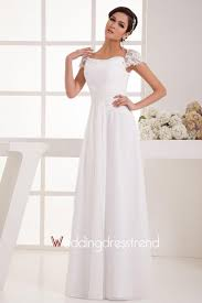 wholesale and retail simple bateau beaded empire waist wedding