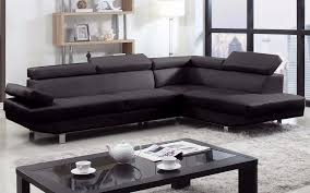 Straight Sectional Sofas 2 Piece Modern Bonded Leather Right Facing Chaise Sectional Sofa