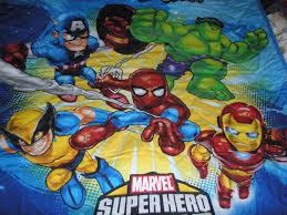 marvel superheroes bedding quilted reclaimed marvel superhero