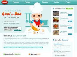 site de cuisine site de recette de cuisine idées de design moderne