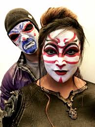 kabuki and bank robber joker face paint pinterest