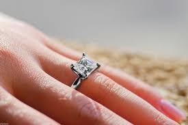 unique princess cut engagement rings 2 10 ct princess cut engagement ring 14k white gold bridal jewelry