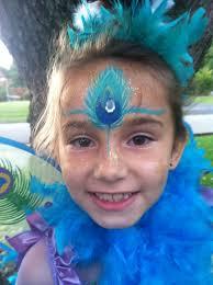 peacock princess face painting rachel u0027s face painting