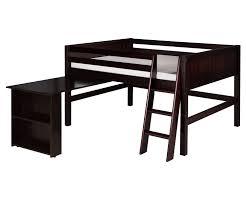 camaflexi full loft bed with desk in cappuccino finish e422fd