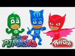 todos los personajes pjmasks en play doh plastilina en