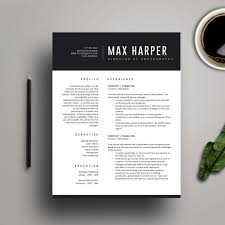 Creative Resume Templates For Word Resume Template For Ms Word Professional Resume Design Cover