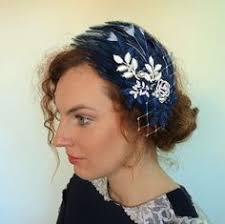 turkey feather headband gatsby feather headpiece feather headdress 1920s feather
