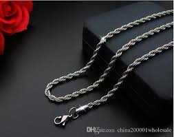 steel necklace chains images 2018 silver color 2mm 50cm rope chain necklace chains stainless jpg