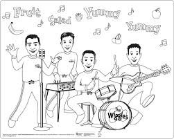the wiggles coloring pages coloring pages u0026 pictures imagixs