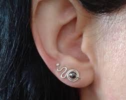 cool earrings cool silver earrings etsy