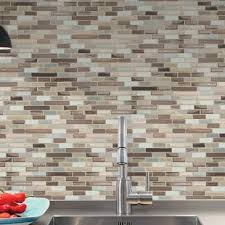 kitchen backsplash stick on peel and stick backsplash tile you ll