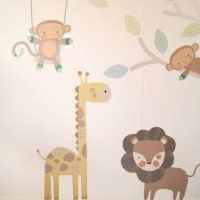 monkey friends tree wall stickers by parkins interiors monkey friends tree wall stickers