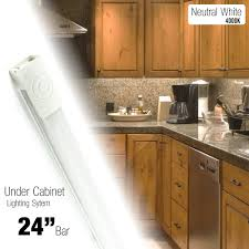 counter kitchen cabinet lights 24 inch led lighting kit cabinet counter accent light warm white 3000k or neutral white 4000k on touch button ul listed 24v