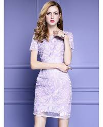 light purple bodycon dress light purple short sleeve bodycon cocktail dress for wedding with