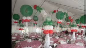 themed decorations italian themed corporate party tent balloon decoration dreamark