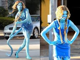 vire costume annalynne mccord goes blue in the on 90210 ny daily news