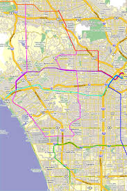 Light Rail Map Phoenix by Los Angeles Rail Map 2040 The Transit Coalition