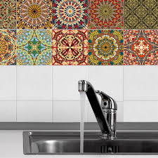 online get cheap tile sticker aliexpress com alibaba group 10pcs set self adhesive wall decal arabic pattern bathroom waterproof kitchen anti oil tiles stickers bathroom