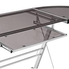 Z Line Belaire Glass L Shaped Computer Desk Desks Glass Corner Desk Amazon Walker Edison Desk White Z Line