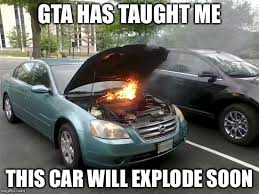 Soon Car Meme - car on fire imgflip