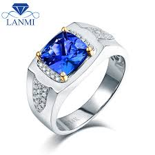 tanzanite blue rings images Solid 14k 585 two tone gold natural blue tanzanite wedding men 39 s jpg