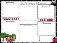 emergent curriculum preschool lesson plan template template