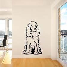 cocker spaniel dog sitting vinyl wall art room sticker decal