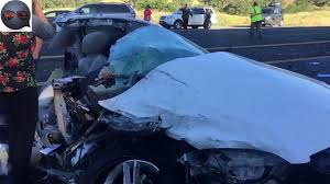 car ripped in half lengthwise horrific accidents caught on