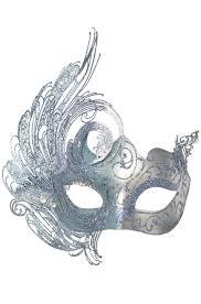 silver masquerade masks cigno masquerade mask blue silver purecostumes