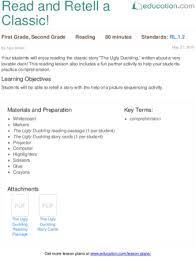 lesson plans for second grade reading education com