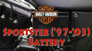 how to replace harley davidson sportster u002797 u002703 battery youtube