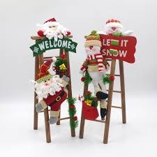handmade christmas handmade christmas decorations cloth plush santa snowman