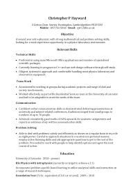 Types Of Skills Resume Examples Of A Chronological Resume Resume Example And Free