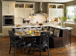 traditional kitchen decor with l shaped original built in seating