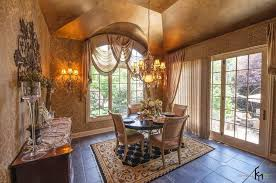 curtain ideas for dining room finishing the interior décor with cool window treatment as the