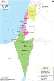 Blank Map Of The West Region by Political Map Of Israel Israel Districts Map