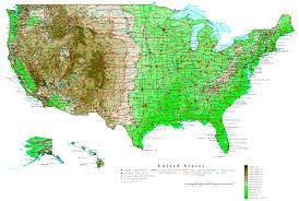 Map Of The Southeastern United States by United States Contour Map