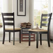 lexington ladder back dining chairs set of 2 black walmart com