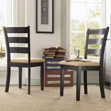 lexington ladder back dining chairs set of 2 black walmart com