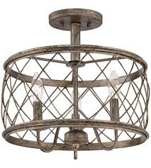 Quoizel Flush Mount Ceiling Light Quoizel Rdy1714cs Dury 3 Light 15 Inch Century Silver Leaf Semi